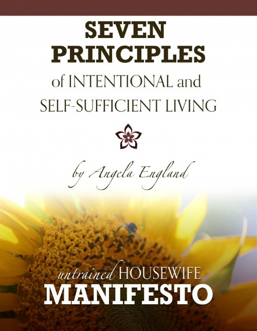 7 Principles of Intentional and Self-Sufficient Living - Free eBook!